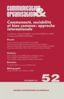 Société et Communauté: le tracé des frontières et l'idée du commun